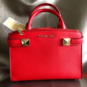 New! Michael Korc Karla satchel crossbody bag